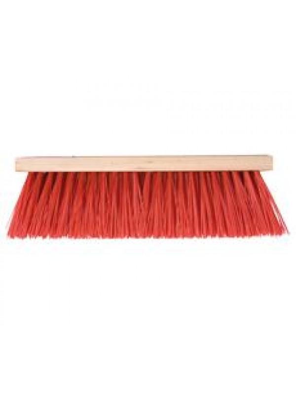 Talen Tools Bezem rood 35cm kunstof haren zonder steel