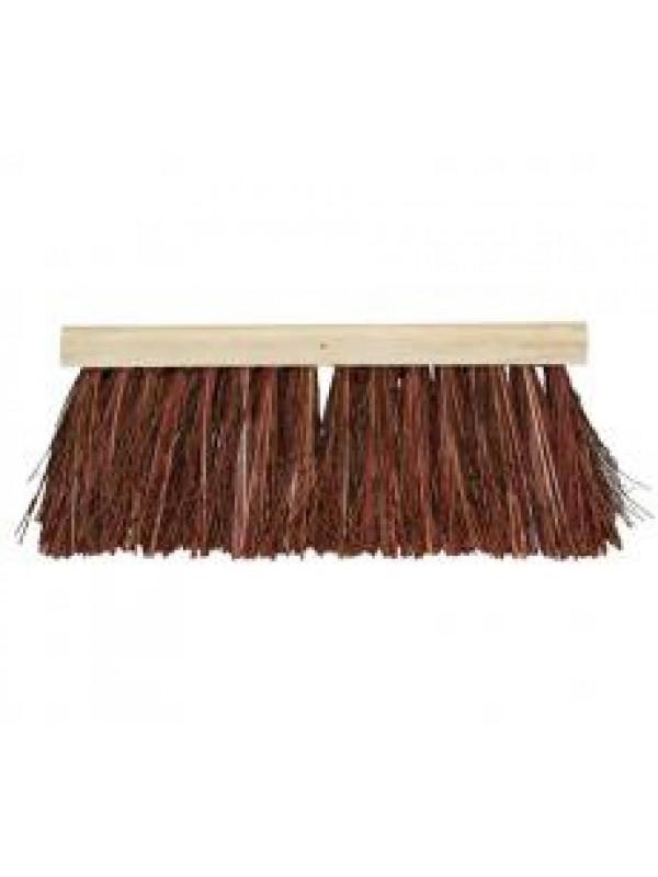 Talen Tools Bezem bruin 37cm natuurvezel haren zonder steel