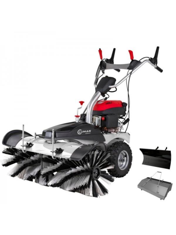 Lumag KM1000 Veegmachine met GRATIS opvangbak + sneeuwschuif
